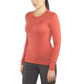 Odlo Suw Natural LS Top Crew Women baked apple-grey melange